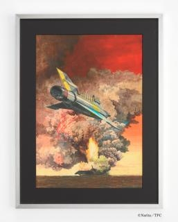 成田亨 複製絵画「爆煙とMJ」