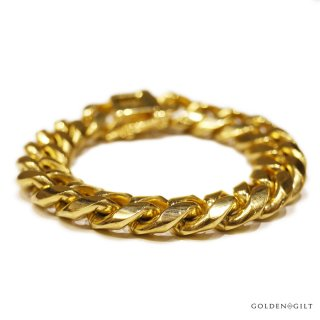 【メール便対応】GOLDEN GILT MIAMI BRACELET【GOLD】