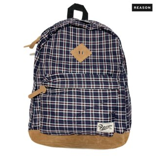 REASON CLOTHING CHECKER BACKPACK【NAVY】