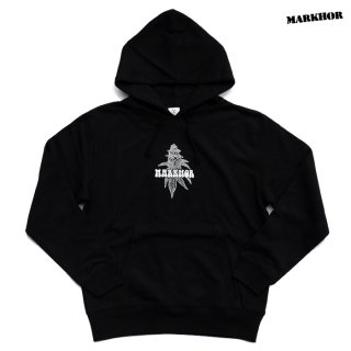MARKHOR BUDS PULLOVER HOODED SWEAT【BLACK】