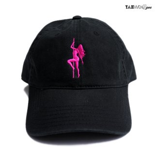 【メール便対応】YAHWEHS EYES STRAP BACK CAP【BLACK×PINK】【BIG POLE】