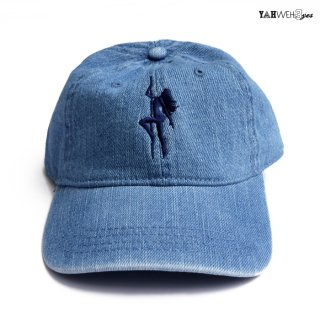 【メール便対応】YAHWEHS EYES STRAP BACK CAP【DENIM】【BIG POLE】