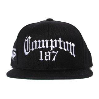 COMPTON 187 SNAPBACK CAP【BLACK】