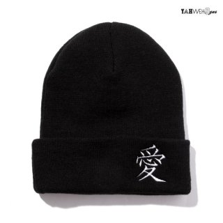 【メール便対応】YAHWEHS EYES BEANIE【BLACK】【愛】