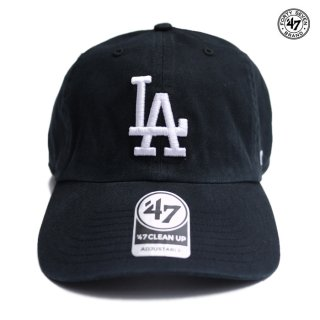 【メール便対応】47 BRAND CLEAN UP CAP LOS ANGELES DODGERS【BLACK】