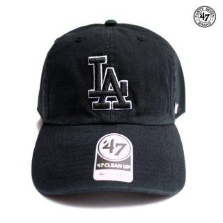 【メール便対応】47 BRAND CLEAN UP CAP LOS ANGELES DODGERS【BLACK】
