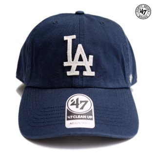 【メール便対応】47 BRAND CLEAN UP CAP LOS ANGELES DODGERS【NAVY】