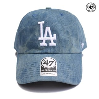 【メール便対応】47 BRAND CLEAN UP CAP LOS ANGELES DODGERS【DENIM BLUE】