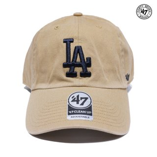 【メール便対応】47 BRAND CLEAN UP CAP LOS ANGELES DODGERS【KHAKI】