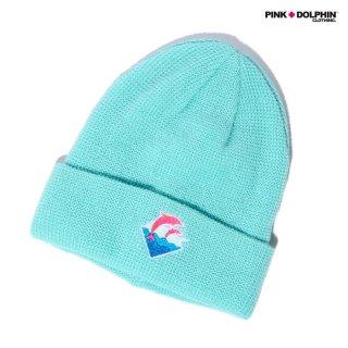【メール便対応】PINK DOLPHIN CLOTHING BEANIE【AQUA】