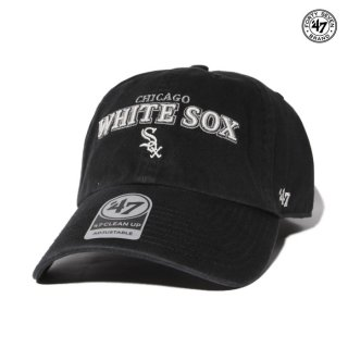 【メール便対応】47 BRAND CLEAN UP CAP CHICAGO WHITE SOX YAKKER【BLACK】