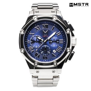 【送料無料】MSTR WATCHES AMBASSADOR【POLISH SILVER/BLUE/SS BAND】【AM190SS】