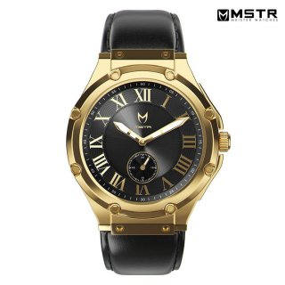 【送料無料】MSTR WATCHES ULTRA【GOLD/BLACK/LEATHER BAND】【AU110LB】