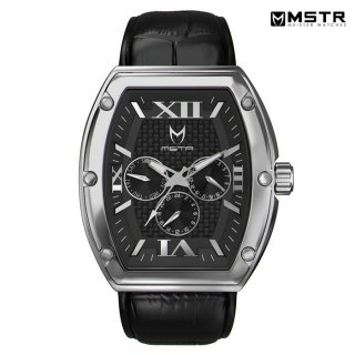 【送料無料】MSTR WATCHES MAJOR【POLISHED SILVER/BLACK/CROC STYLE BAND】【MJ110CB】