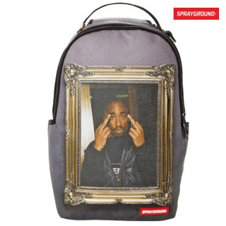 【送料無料】SPRAYGROUND TUPAC GOLDEN BOY BACK PACKS【BLACK】