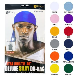 【メール便対応】KING J DELUXE SILKY DU-RAG【12COLORS】