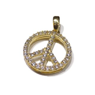【送料無料】LAX JEWELRY 10K PEACE CHARM【YELLOW GOLD】