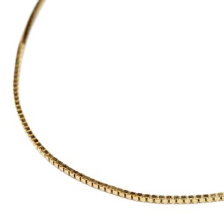 【送料無料】LAX JEWELRY 10K YELLOW GOLD BOX CHAIN【YELLOW GOLD】