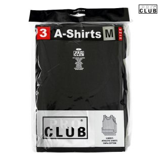【3枚セット】PRO CLUB A-SHIRTS【BLACK】【1 PACK 3PIECES】