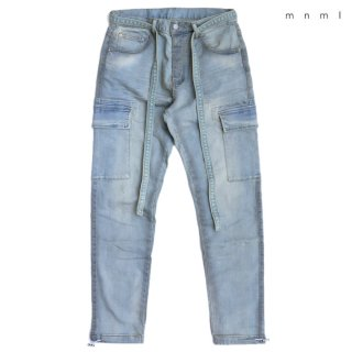 【送料無料】MNML DENIM CARGO PANTS【WASH BLUE】