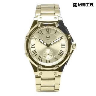 【送料無料】MSTR WATCHES ULTRA SLIM【CHAMPAGNE GOLD/SS BAND】【AU101SS】