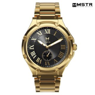 【送料無料】MSTR WATCHES ULTRA SLIM【GOLD×BLACK / SS BAND】【AU110SS】