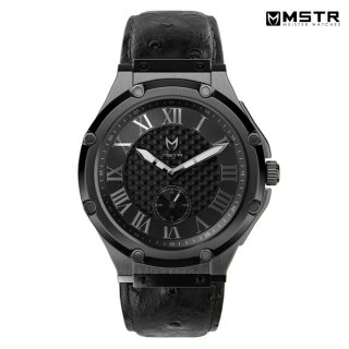 【送料無料】MSTR WATCHES ULTRA【BLACK/LEATHER BAND】【AU112OB】