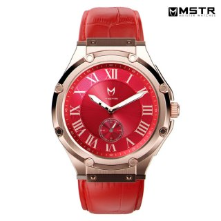 【送料無料】MSTR WATCHES ULTRA【ROSE GOLS/RED/LEATHER BAND】【AU114CB】