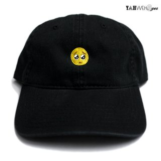 【メール便対応】YAHWEHS EYES STRAP BACK CAP【BLACK】【PIEN】