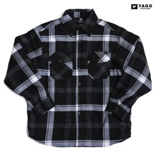<img class='new_mark_img1' src='https://img.shop-pro.jp/img/new/icons59.gif' style='border:none;display:inline;margin:0px;padding:0px;width:auto;' />YAGO FLANNEL QUILTING JACKET【BLACK×WHITE】