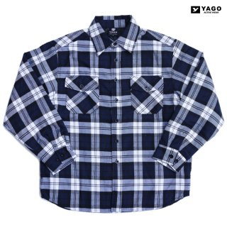 <img class='new_mark_img1' src='https://img.shop-pro.jp/img/new/icons59.gif' style='border:none;display:inline;margin:0px;padding:0px;width:auto;' />YAGO FLANNEL QUILTING JACKET【NAVY×WHITE】