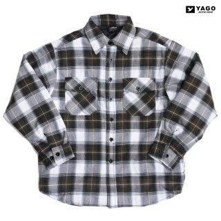 <img class='new_mark_img1' src='https://img.shop-pro.jp/img/new/icons59.gif' style='border:none;display:inline;margin:0px;padding:0px;width:auto;' />YAGO FLANNEL QUILTING JACKET【BROWN×WHITE】