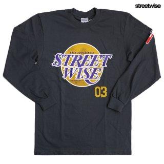 【期間限定★50%OFF】STREETWISE HOME TEAM L/S Tシャツ【CHARCOAL GRAY】