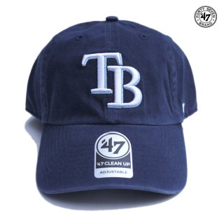 【メール便対応】47 BRAND CLEAN UP CAP TAMPA BAY RAYS【NAVY】