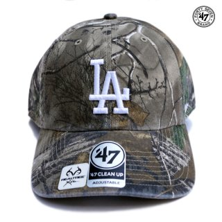 【メール便対応】47 BRAND CLEAN UP CAP LOS ANGELES DODGERS【CAMOUFLAGE】