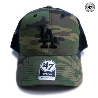 47 BRAND MVP MESH CAP LOS ANGELES DODGERS【CAMO×BLACK】
