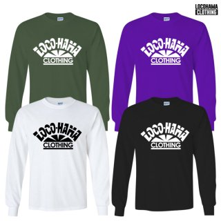 【受注アイテム】【メール便対応】LOCOHAMA CLOTHING L/S T-SHIRTS【WHITE/BLACK/OLIVE/PURPLE】