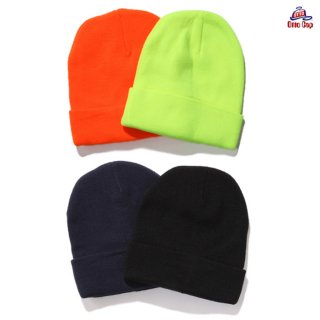 【メール便対応】OTTO PLAIN BEANIE【BLACK/NAVY/NEON YELLOW/NEON ORANGE】
