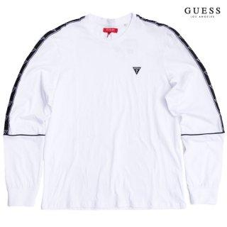 【ラスト1点】GUESS HUEY L/S Tシャツ【WHITE】