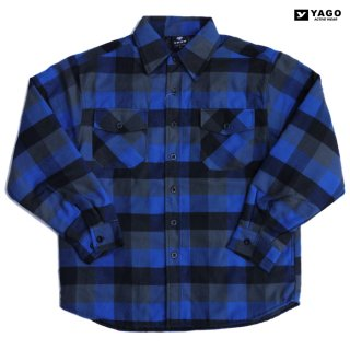 YAGO FLANNEL QUILTING JACKET【BLUE】