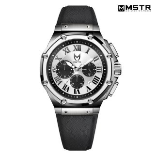 【送料無料】MSTR WATCHES AMBASSADOR SEMI【POLISHED SILVER / SILVER / LEATHER BAND】【AM199LB】
