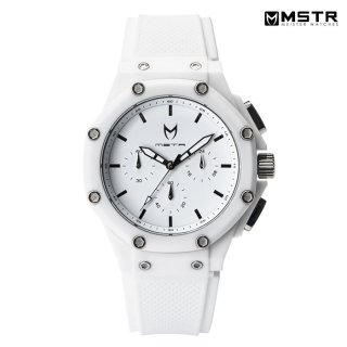 【送料無料】MSTR WATCHES AMBASSADOR X【WHITE/WHITE/RUBBER BAND】【AX107RB】