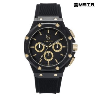 【送料無料】MSTR WATCHES AMBASSADOR X【BLACK/GOLD/RUBBER BAND】【AX110RB】