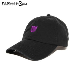 【メール便対応】YAHWEHS EYES STRAP BACK CAP【BLACK】【DEVIL】