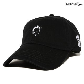 【メール便対応】YAHWEHS EYES STRAP BACK CAP【BLACK】【RIRI】
