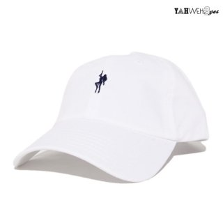【メール便対応】YAHWEHS EYES STRAP BACK CAP【WHITE】【POLE】