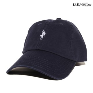 【メール便対応】YAHWEHS EYES STRAP BACK CAP【NAVY】【POLE】