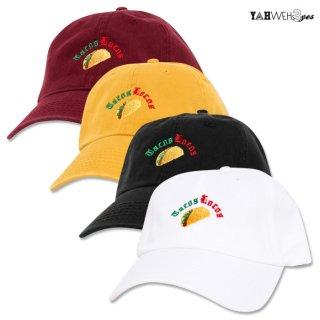 【メール便対応】YAHWEHS EYES STRAP BACK CAP【WHITE/BLACK/MUSTARD/BURGUNDY】【TACOS LOCOS】