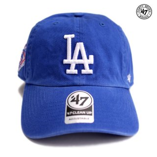【メール便対応】47 BRAND CLEAN UP CAP LOS ANGELES DODGERS【ROYAL BLUE】