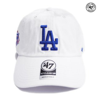 【メール便対応】47 BRAND CLEAN UP CAP LOS ANGELES DODGERS【WHITE】